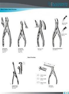 Bone cutters and bone punches
