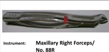 Oral Surgery Instrument: Maxillary Right Forceps