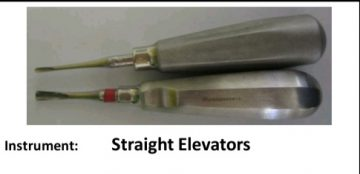 Oral surgery instruments-straight elevator