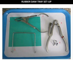 Rubber dam tray set-up