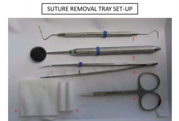 Suture removal tray set-up